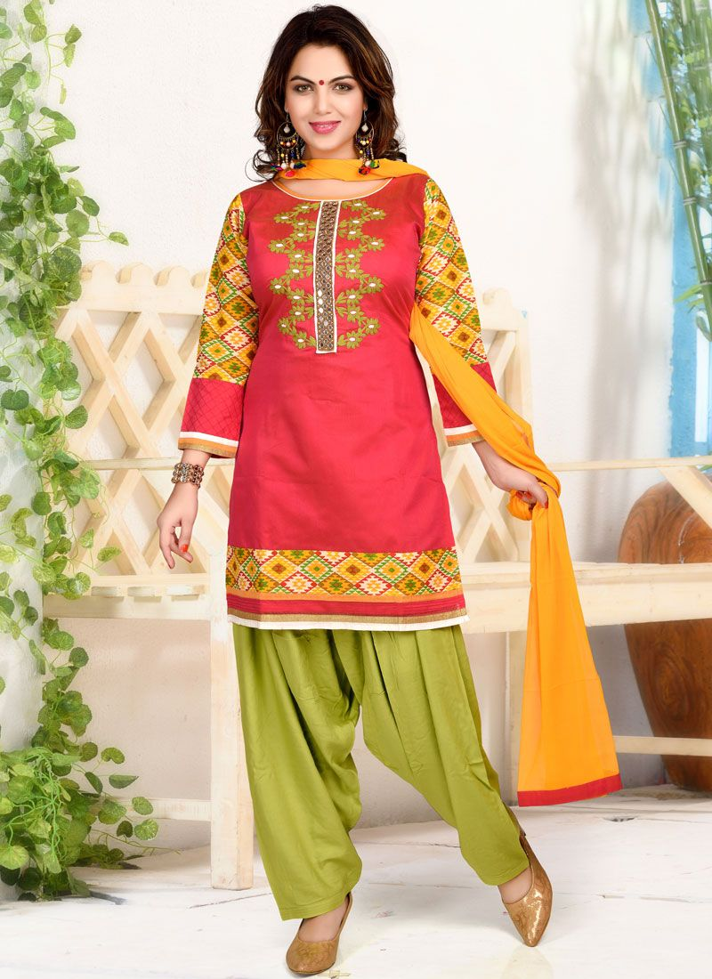 1347797e4a Buy Print Chanderi Patiala Suit Online : 97068 -