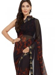 Print Faux Georgette Multi Colour Printed Saree