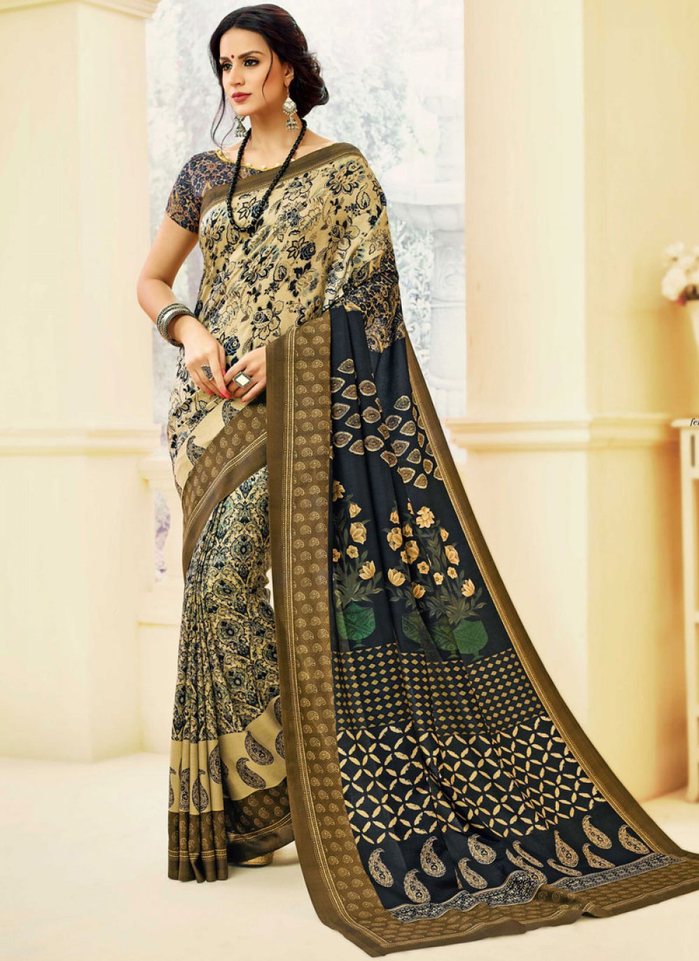 Print Multi Colour Printed Saree
