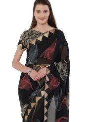 Print Multi Colour Printed Saree