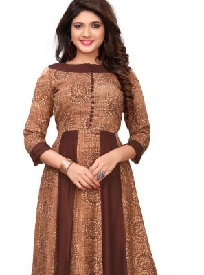 Print Party Party Wear Kurti