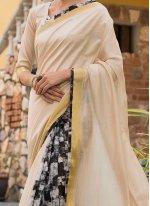 Print Work Art Silk Cotton Traditional  Saree