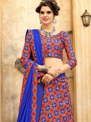 Print Work Art Silk Lehenga Choli