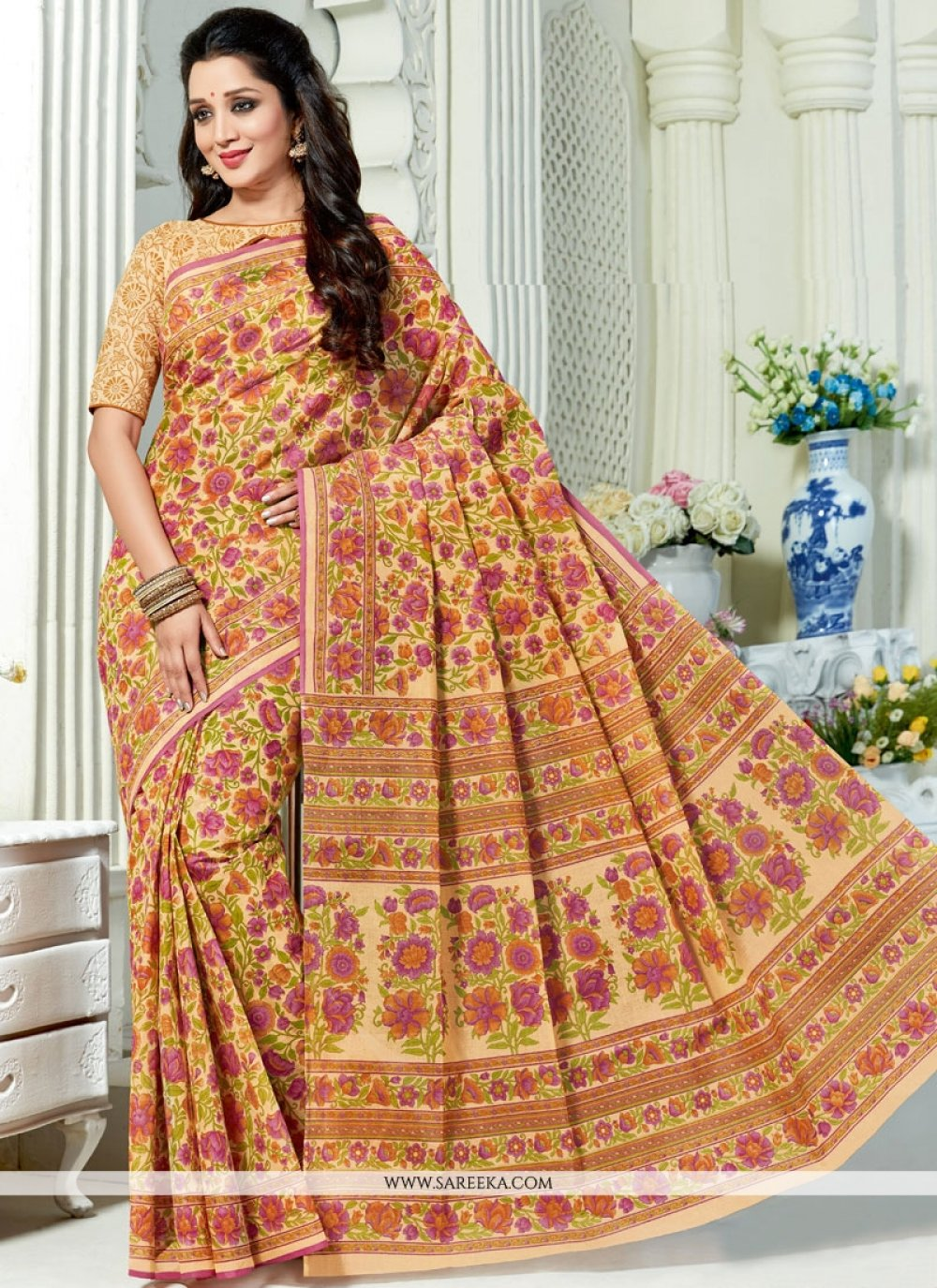 Print Work Casual Saree