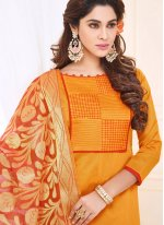 Print Work Cotton   Churidar Suit
