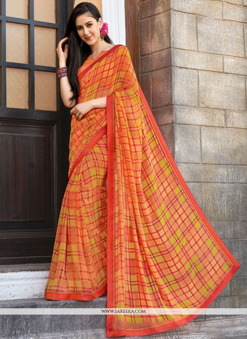 Print Work Multi Colour Printed Saree