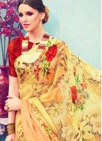 Print Work Printed Saree