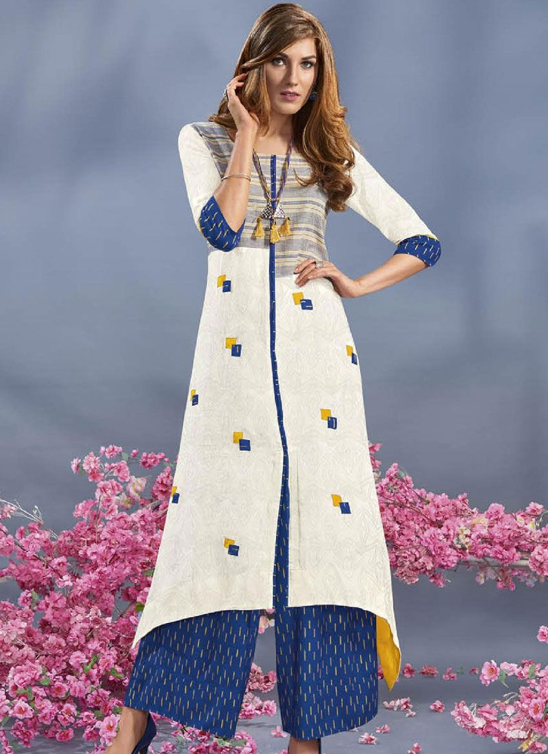 Print Work Rayon Party Wear Kurti