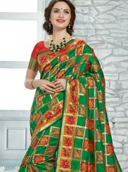 Printed Green Classic Saree