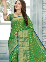 Printed Green Trendy Saree