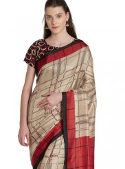 Printed Khadi silk Casual Saree