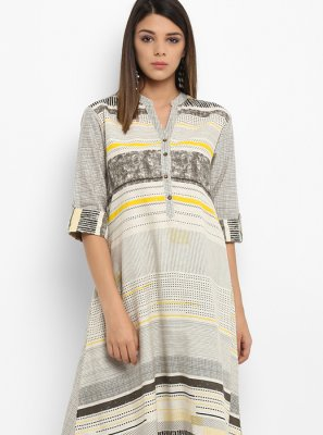 Printed Work Party Wear Kurti