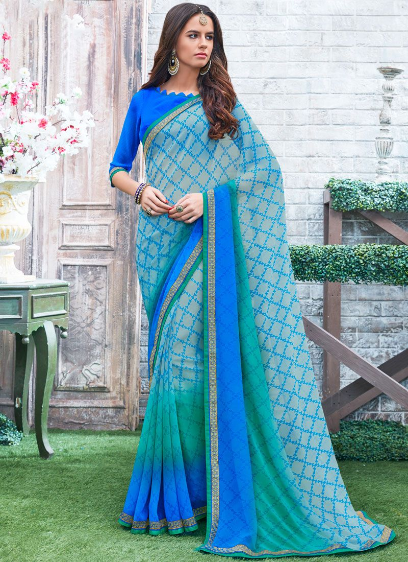 Printed Work Printed Saree