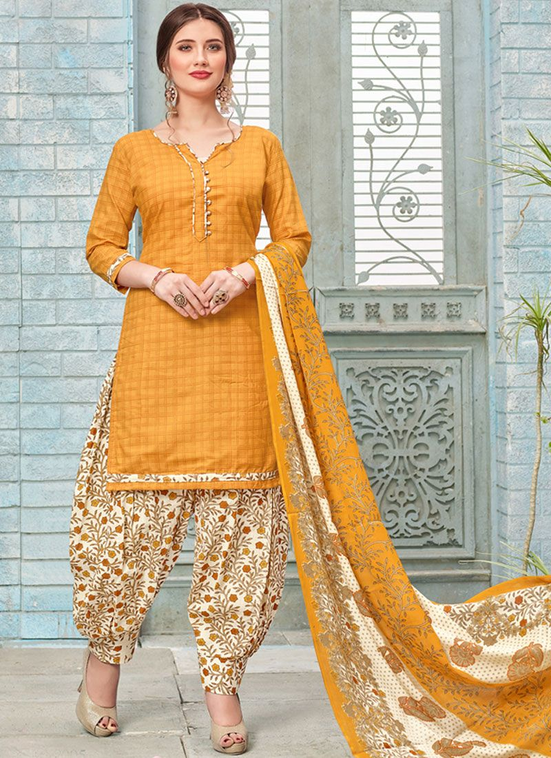 Printed Work Punjabi Suit