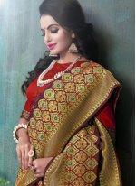 Purple Weaving Work Art Silk Designer Traditional Saree