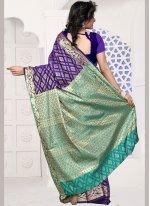 Purple Weaving Work Designer Traditional Saree