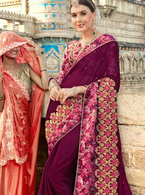 Purple Wedding Classic Designer Saree