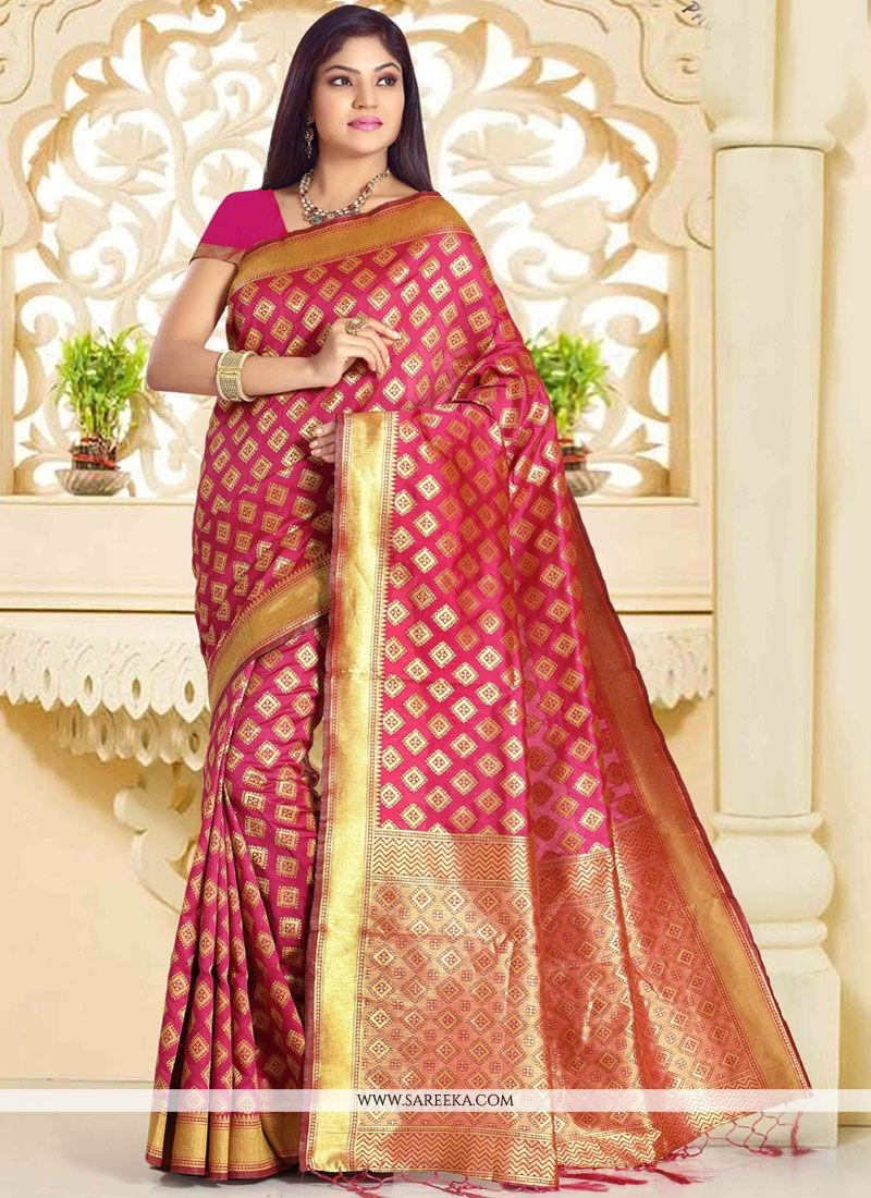 Rani Weaving Work Designer Traditional Saree