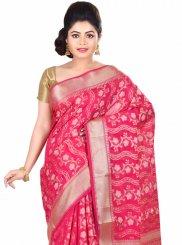 Rani Zari Work Banarasi Silk Designer Traditional Saree