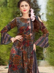 Rayon Party Wear Kurti in Multi Colour