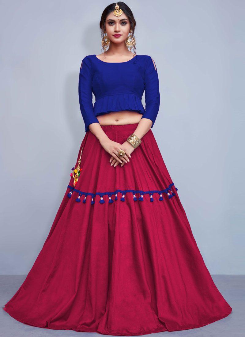 Readymade Lehenga Choli Fancy Cotton   in Hot Pink