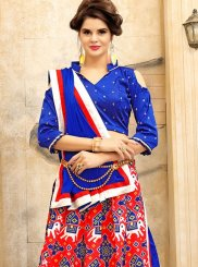 Red and Blue Art Silk Lehenga Choli