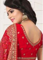 Red Bridal Classic Designer Saree