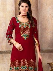 Red Designer Pakistani Suit