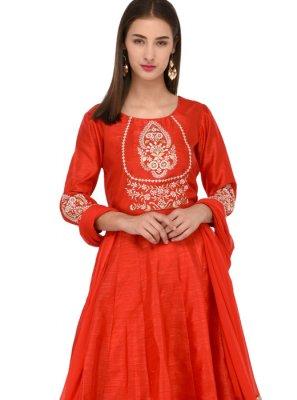 Red Party Anarkali Salwar Suit