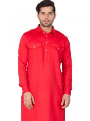 Red Party Kurta Pyjama