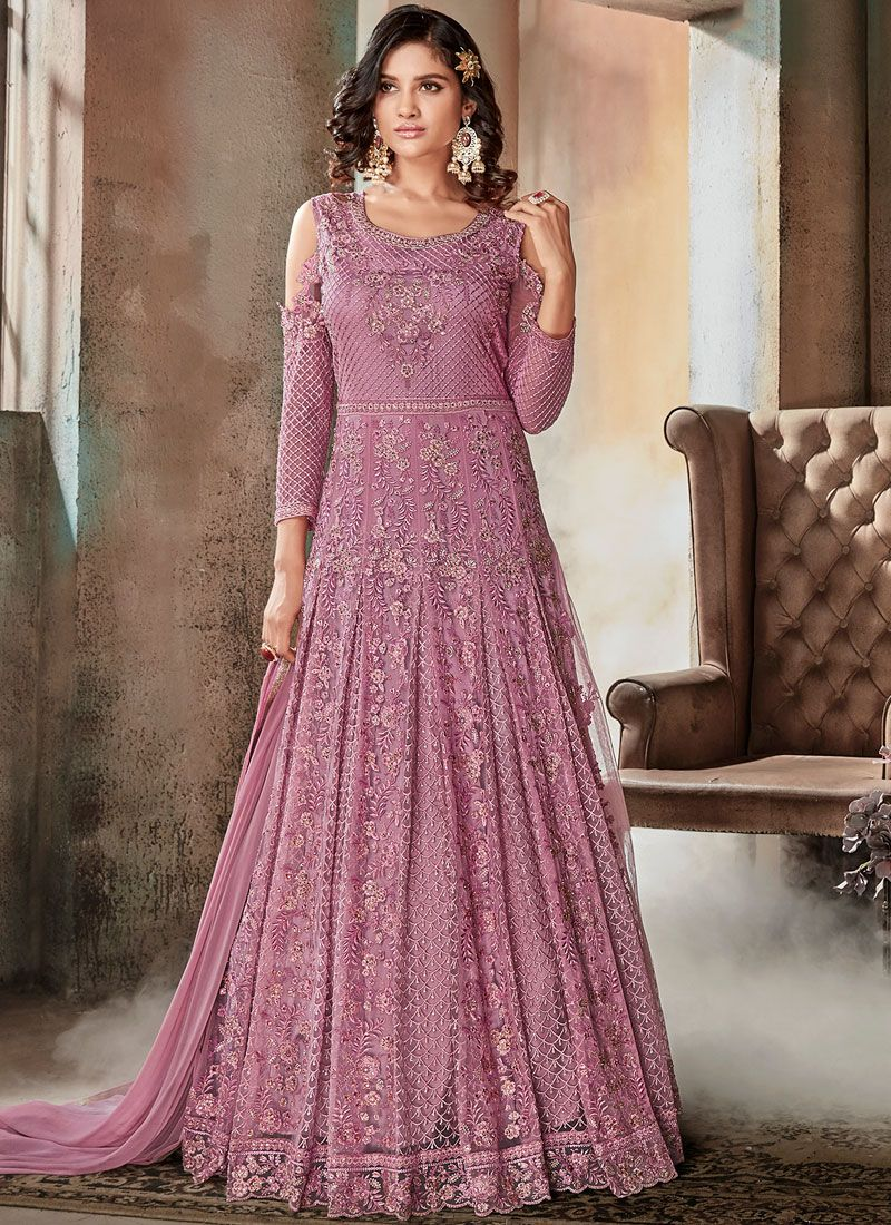 Resham Floor Length Anarkali Suit