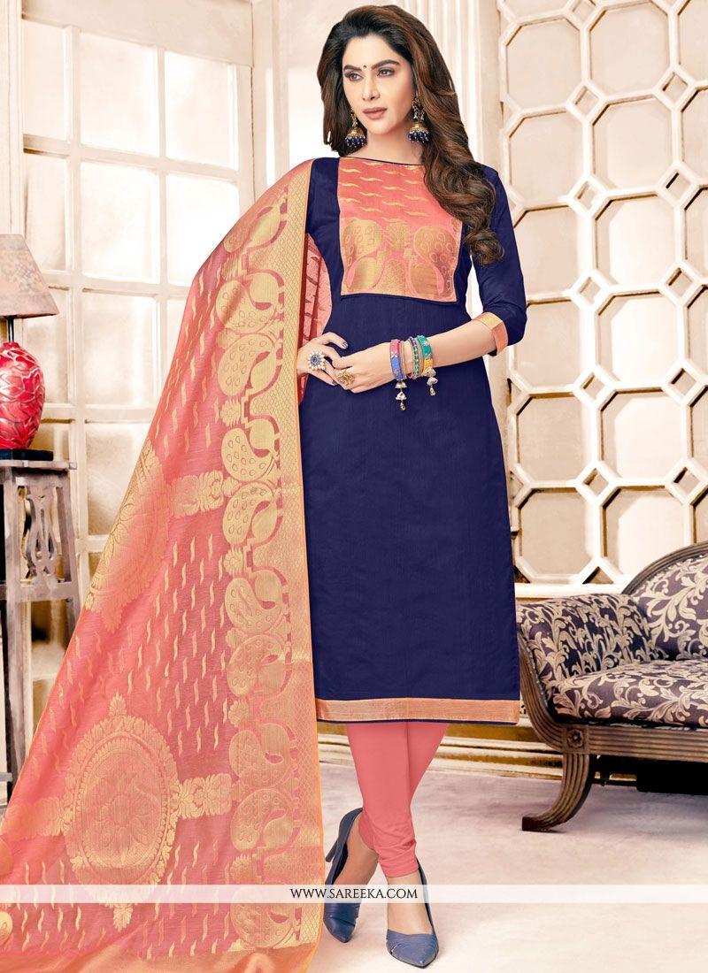 Resham Work Cotton   Salwar Kameez