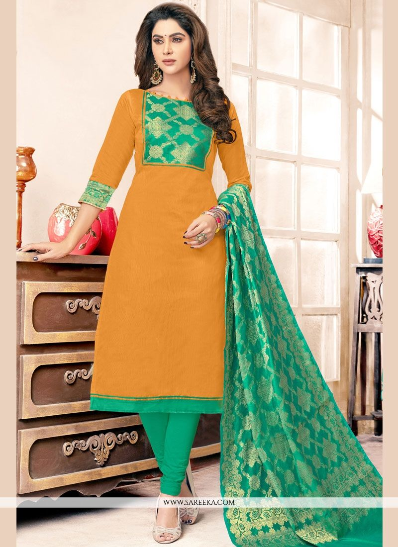 Resham Work Cotton   Salwar Kameez