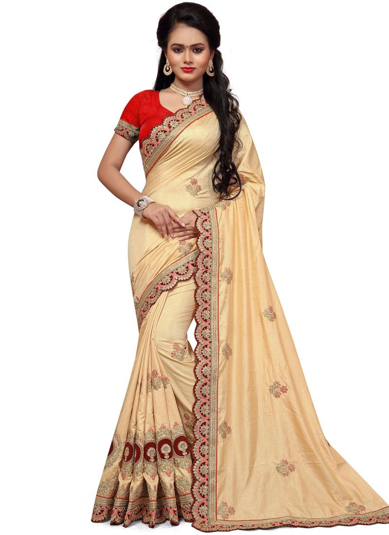 Resham Work Designer Traditional Saree