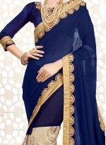 Resham Work Faux Chiffon Classic Designer Saree