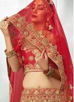 Resham Work Satin Silk Lehenga Choli