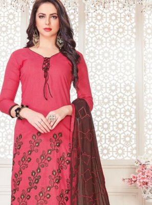 Rose Pink Churidar Suit