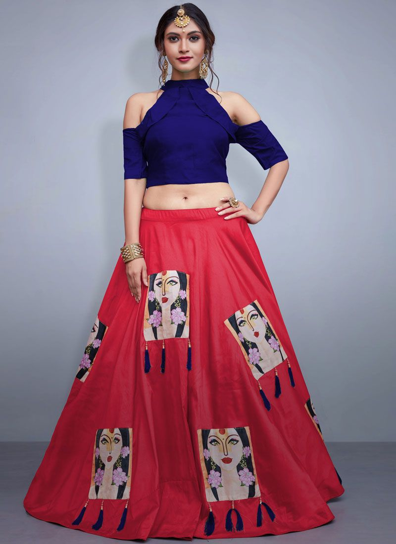 Rose Pink Embroidered Readymade Lehenga Choli