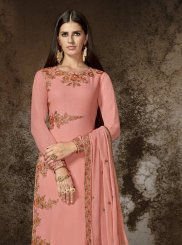 Rose Pink Embroidered Work Designer Pakistani Suit