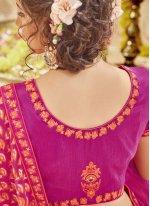 Rose Pink Georgette Printed Classic Saree