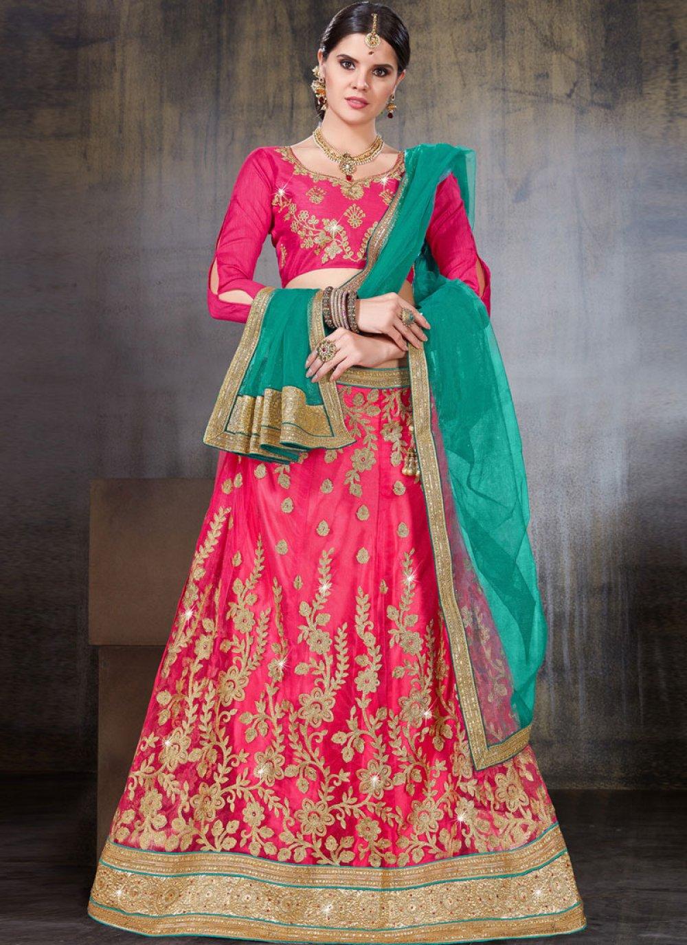 Rose Pink Sangeet Lehenga Choli