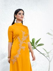 Satin Party Party Wear Kurti