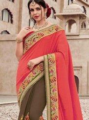 Satin Silk Mehndi Classic Saree