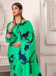 Satin Silk Printed Saree