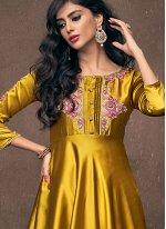 Satin Silk Readymade Gown