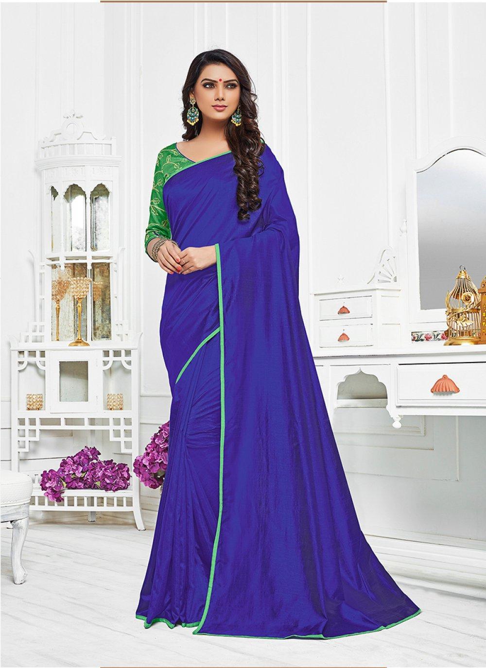 Satin Silk Resham Work Bollywood Saree