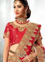 Satin Silk Resham Work Lehenga Choli