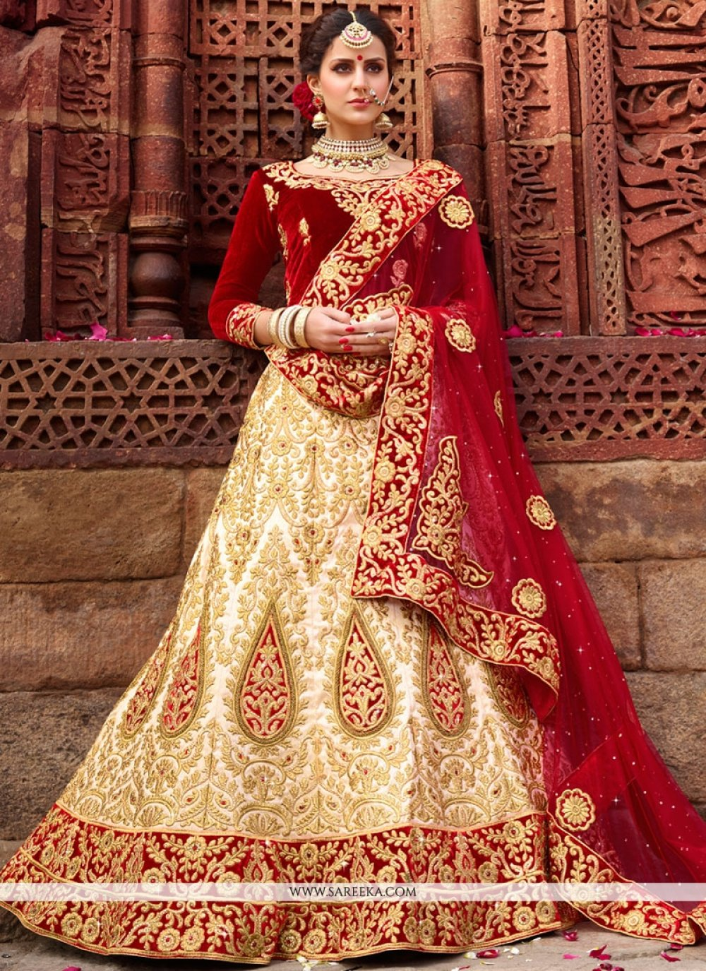 Satin Silk Resham Work Lehenga Choli