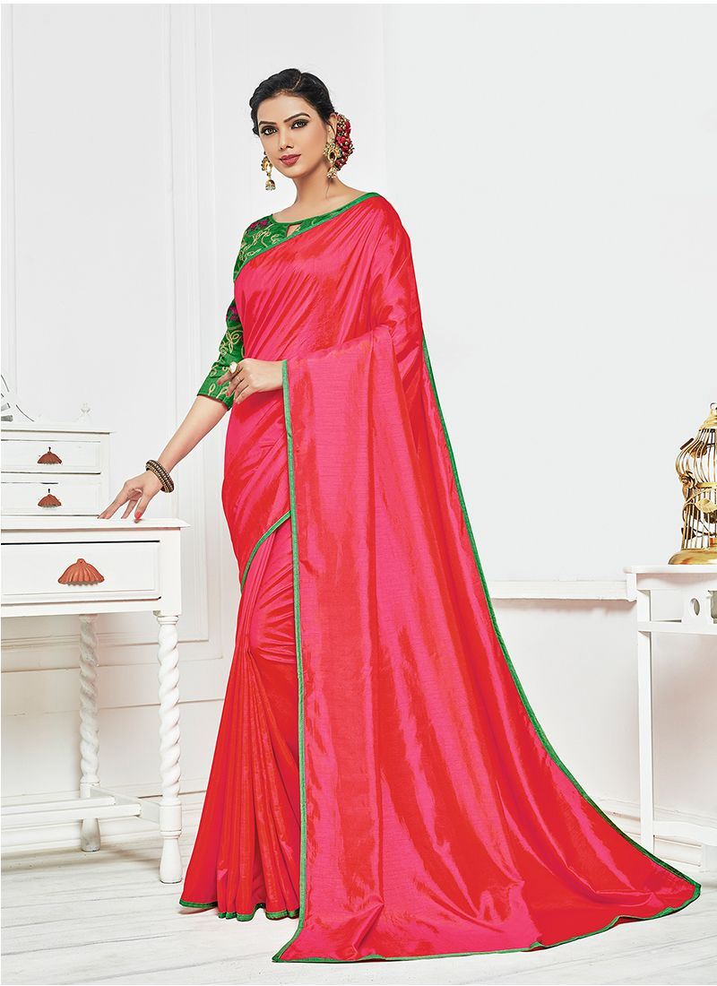 Satin Silk Silk Saree