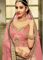 Satin Silk White A Line Lehenga Choli